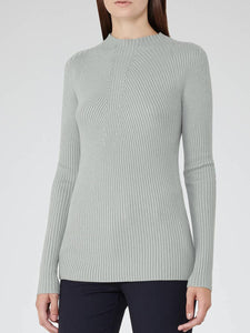 Long Sleeve High Neck Ribbed Sweater