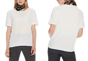 Short Sleeve Crew Neck Ladder-Tape Tee