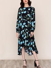 Load image into Gallery viewer, Long Sleeve Crew Neck Midi Dress