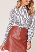 Load image into Gallery viewer, Long Sleeve Ruffle Button-Up Top