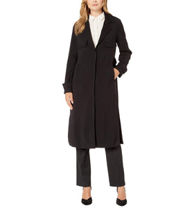 Notched Lapel Trench Coat