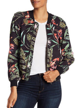 Load image into Gallery viewer, Long Sleeve Floral Print Bomber