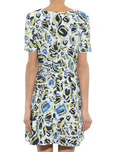 Short Sleeve Printed A-Line Dress