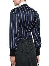Load image into Gallery viewer, Striped satin-twill bomber Jacket