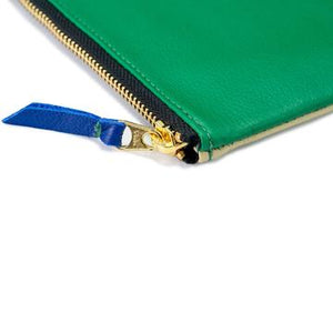 Certain Standard Leather Pouch - Green/Beige