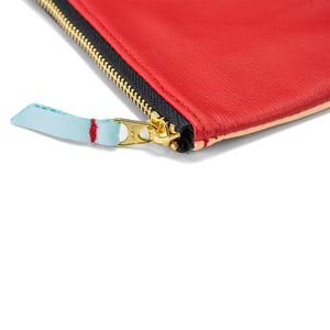 Certain Standard Leather Pouch - Red/Blush