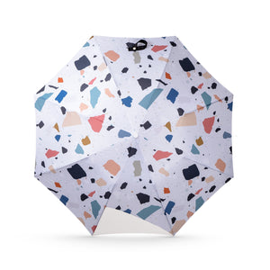 Small Certain Standard Umbrella - White / Multi