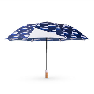 Small Certain Standard Umbrella - Blue Waves