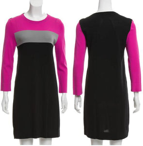 Long Sleeve Color-block Dress