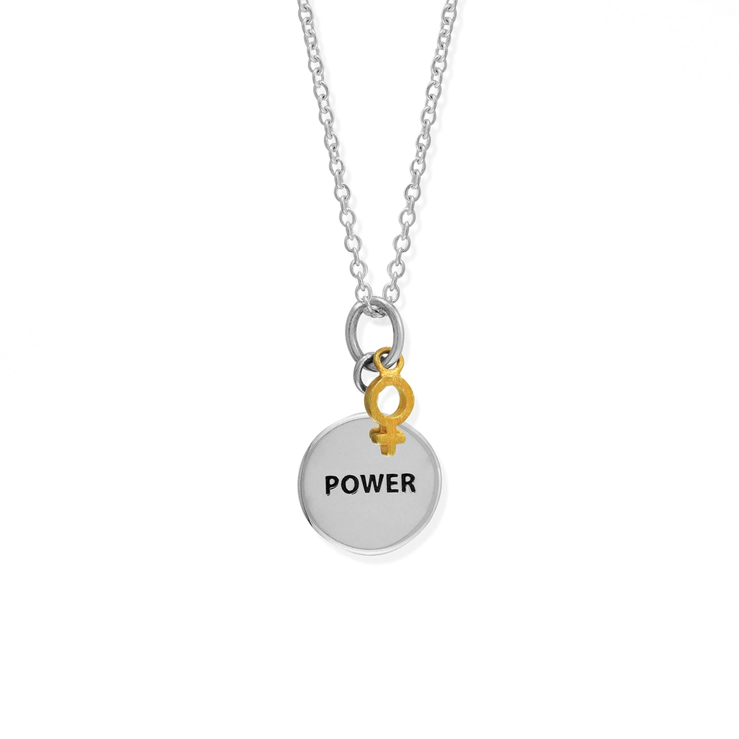 Girl Power Two-Tone Necklace