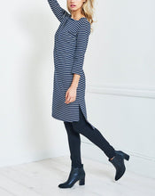 Load image into Gallery viewer, 3/4 Sleeved Striped High-Low Hem Midi