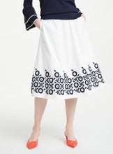 Load image into Gallery viewer, Embroidred A-Line Midi Skirt