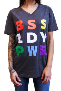 BSS LDY PWR Pride V-neck Tee