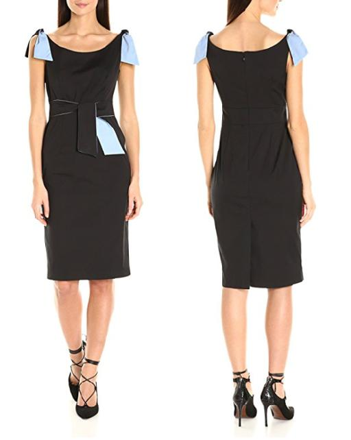 Sleeveless Sheath Dress w/ Shoulder and Waist Ties