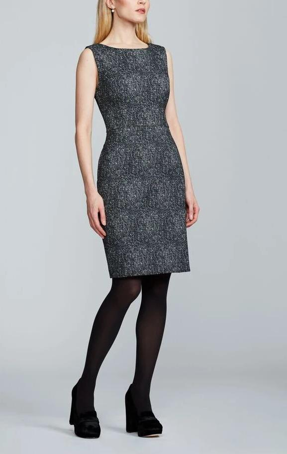 High Contrast Tweed Dress