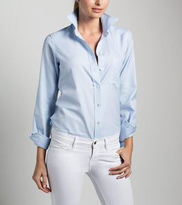 Long Sleeve Foldable Collar Button-Up Shirt