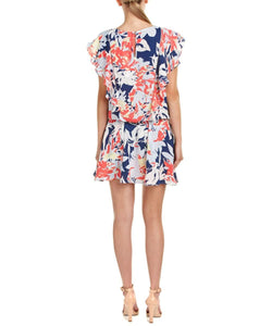 Flutter Sleeve Printed Aline Dress