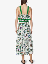 Load image into Gallery viewer, Sleeveless Silk Ruffled Maxi Dress