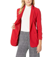 Load image into Gallery viewer, Ruched Sleeve Stretch Blazer