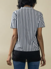 Load image into Gallery viewer, Short Sleeve Splitneck Silk-Blend Blouse