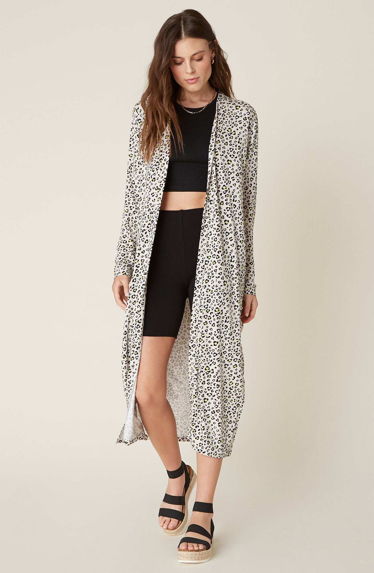 BB Dakota Meow Down Duster Cardigan