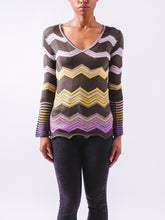Load image into Gallery viewer, Long Sleeve Striped Knit Top