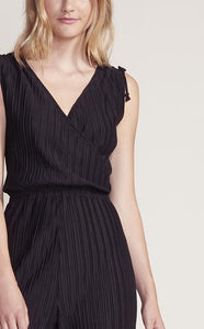 Sleeveless Shoulder-Tie Pleated Jumpsuit