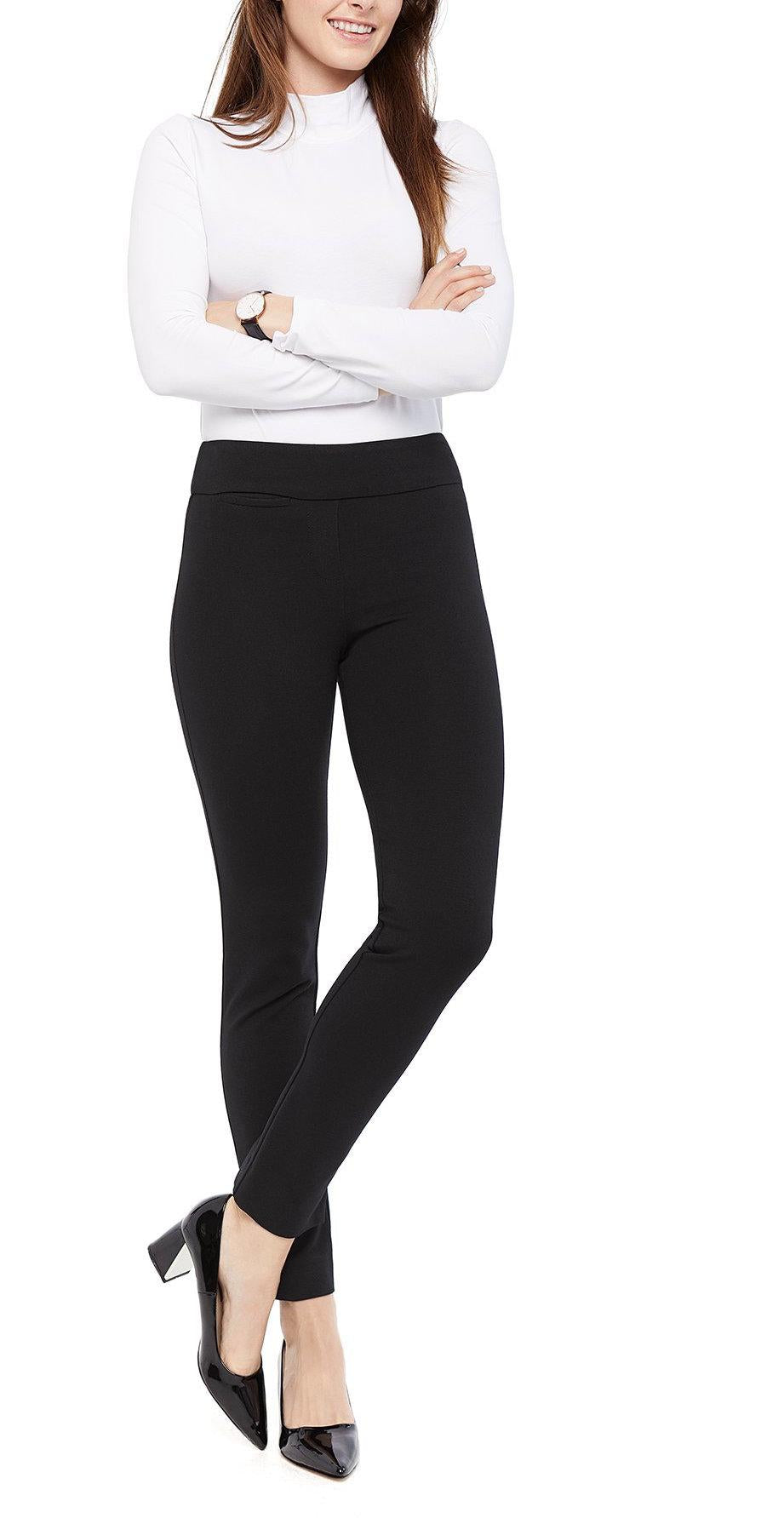 High-Waisted Slimming Straight Leg Trousers