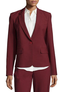 Long Sleeve Single-Button Tailored Blazer