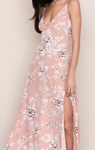 Floral Side Slit Maxi Dress