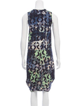 Load image into Gallery viewer, Sleeveless Printed Silk Draped Midi Dress