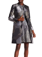 Load image into Gallery viewer, Long Sleeve Printed Long Coat with Stand-Up Collar