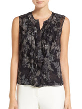Load image into Gallery viewer, Crew Neck Sleeveless Ruffle Detail Blouse