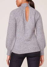 Load image into Gallery viewer, Long Sleeve Mock Neck Keyhole Back Sweater