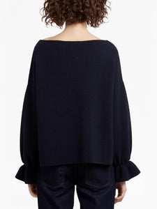 Ballet Neck Cinched Wrist Sweater