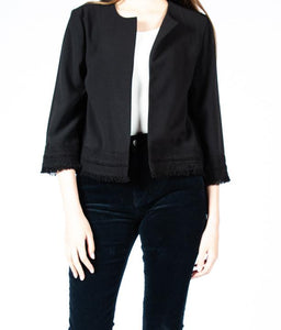 Long Sleeve Embroidered Trim Jacket