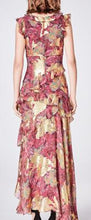 Load image into Gallery viewer, Asymmetric Sequin Print Hi-Lo Maxi Dress