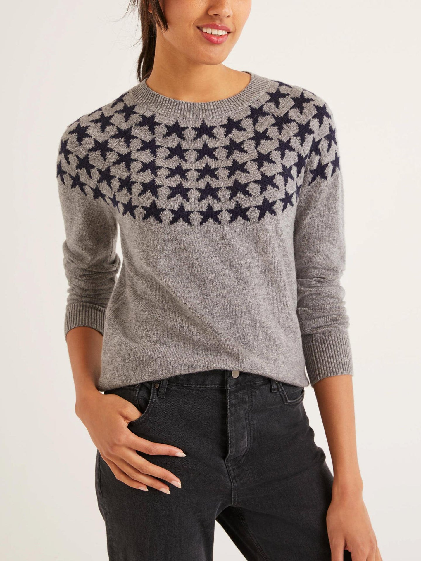 Alpaca Blend Star Print Sweater