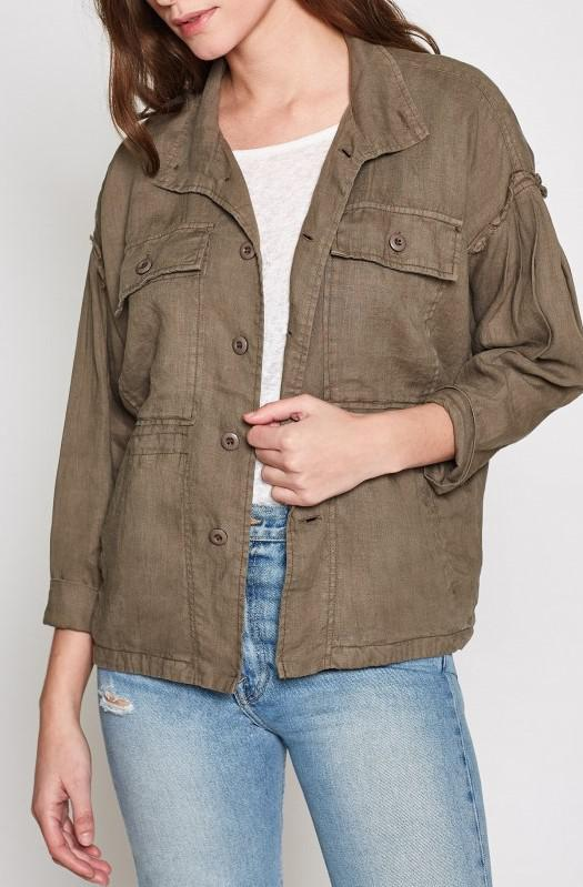 Light Weight Long Sleeve Button Up Jacket