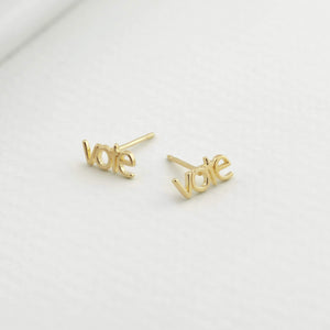 Vote Earrings - Gold