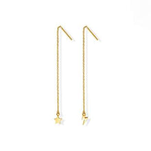 Load image into Gallery viewer, Lightning Star Threader Earrings - 14K Gold