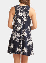 Load image into Gallery viewer, Sleeveless Keyhole Floral Shift Dress