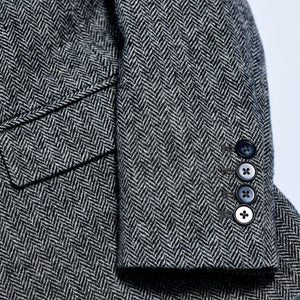 Long Sleeve Tweed Wool-Blend Blazer