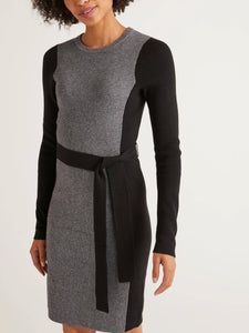 Wool and Cashmere Blend Colorblock Sweater Dress