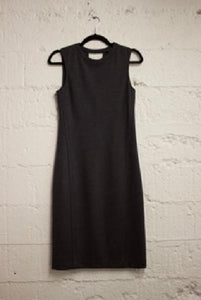 Crew Neck Sleeveless Wool Sheath Dress
