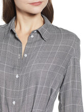 Load image into Gallery viewer, Waist Tie Button-Up Collared Shirt