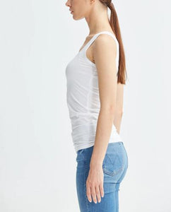 Public Habit Modal Fitted Tank Top - White