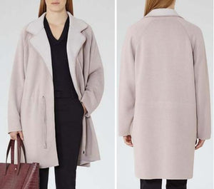 Long Sleeve One-Button Collared Coat