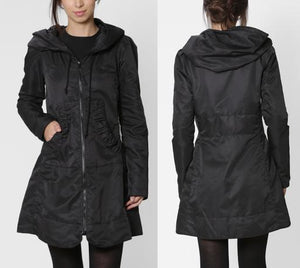Fit and Flare Hooded Raincoat