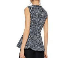 Load image into Gallery viewer, V-neck Peplum Sleeveless Top
